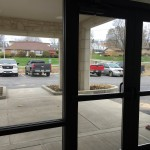 The view from the welcome center to the new handicapped parking lot.