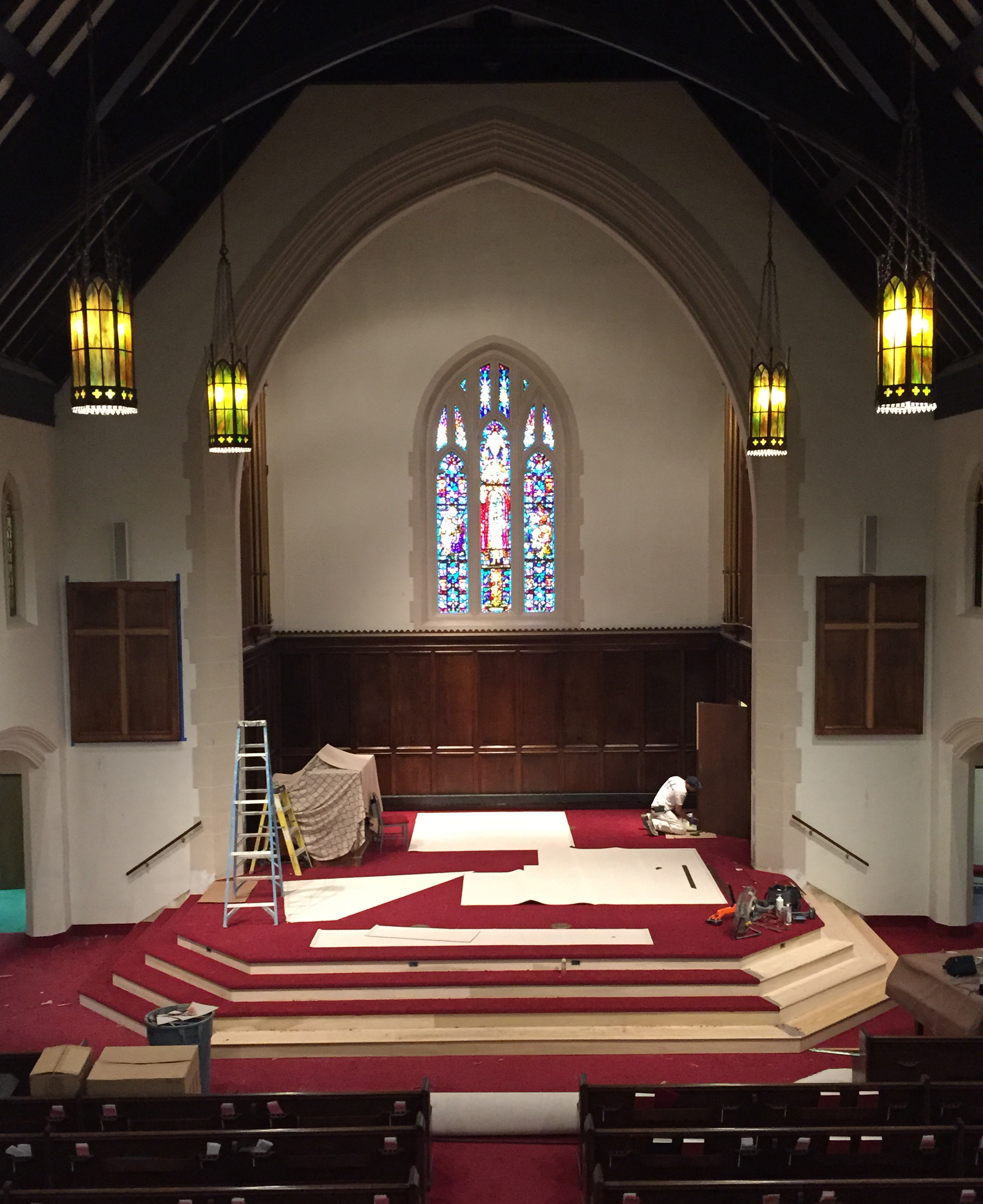 Sanctuary Renovations Nearing Completion Clen Moore